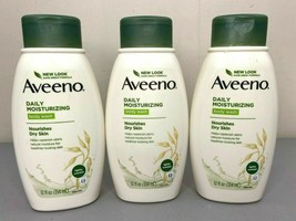 Lot of 3 Aveeno Daily Moisturizing Body Wash Nourishes Dry Skin 12 Oz. Each - $18.54