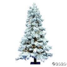 Vickerman 7' Flocked Spruce Christmas Tree with Warm White LED Lights - $463.73