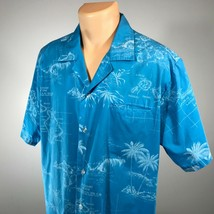 Orchid Fashions Mens Hawaiian Shirt Made In Hawaii Short Sleeve See Meas... - $20.42