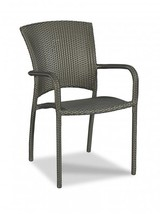 Dining Chair WOODBRIDGE Outdoor Cafe Descending Curved Arms - £438.44 GBP