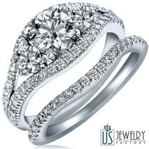 2.06 CT (1.02) E-VS2 ROUND DIAMOND ENGAGEMENT RING WEDDING BAND 14K WHIT... - €5.249,70 EUR