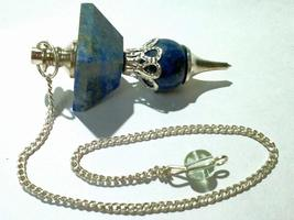 Sodalite Pendulum Crystal Pendulum for Divination dowsing Pendulum Cryst... - $12.00