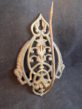 ANTIQUE VICTORIAN ORNATE Cast Iron wall Mounted Bill RECEIPT Note Holder... - $22.43