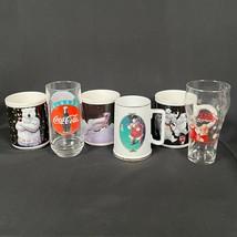 Lot De 6 Coca Cola Coke Santa Polar Bear Happy Vacances Café Mugs Lunettes Vtg - £19.43 GBP
