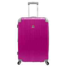 """Beverly Hill Country Club Malibu Newport 28"""" Pink Light Spinner Suitcase... - $84.14"""