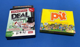 Vintage PIT Frenzied Card Trading Game Cards 1983 Monopoly Trading Lot Of 2 - $14.54