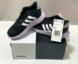Adidas Lite Racer 2.01 Toddler Girls 8K Sneakers Running EG6908 Black - $31.68