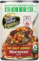 Health Valley Organic No Salt Added Soup, Minestrone, 15 Ounce - $13.60