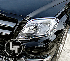 Mercedes GLK X204 Chrome Headlight Trim Bezels by Luxury Trims 2013-2015 - $108.89