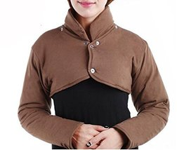 Shoulder Warmer Wrap Long Sleeves with Removable Collar, Arthritis Pain ... - $22.97