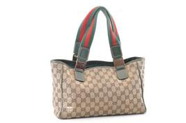 Gucci Gg Borsa Tote in Tela Marrone Auth 4025 - $206.31
