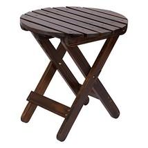 Shine Company 4108BB Adirondack Round Folding Table, Burnt Brown - $56.97
