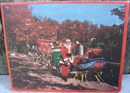 1950's Santa w Sleigh Board Puzzle North Pole New York Vintage USA - $18.00