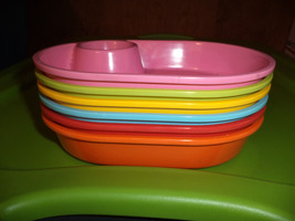 Plastic Chip & Dip Oval Dishes - £10.78 GBP