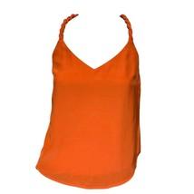 Aijek Womens Red Braided Straps V-Neck Sleeveless Tank Top Sz 2 - $28.71
