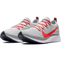Nike Men's Zoom Fly FK Platinum Crimson Running Shoes AR4561 044  - $119.24