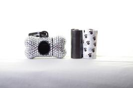 Silver Crystal Rhinestone Bone shaped Waste Bag Dispenser - $23.99