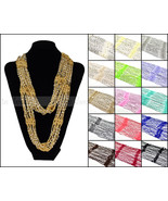 Crocheted Bling Rhinestone Bead Colorful Knitted Infinity Scarf Belt Loop Circle - €6,33 EUR