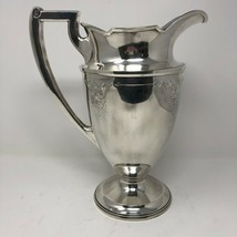 Barbour International Hand Chased Pitcher Water Silver Plate Engrave Des... - $133.64
