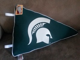 "MSU SPARTANS PENNANT Brand New 2012 Plush Tags 13"" MICHIGAN STATE UNIVER... - $9.99"