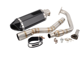 Motorcycle Exhaust Muffler And Link Pipe Full System For Yamaha YZF R125 - $310.54
