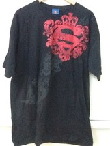 Superman Man Of Steel Black Cygnus T-shirt Size XL Extra Large 100% Cotton - $18.95