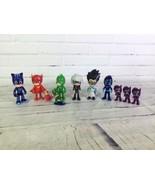 Disney PJ Masks Figures Lot Catboy Owlette Gekko Night Ninjalino Luna Girl Romeo - $74.25