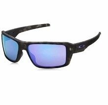 Oakley Double Edge Matte Black Tortoise W/ Violet Iridium Sunglasses - $153.00