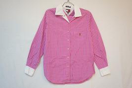 Tommy Hilfiger Midweight Cotton Shirt/Top/Blouse, Pink/Fuschia, Size 8 0... - $10.26