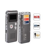 Double Microphones Digital Voice Recorder 8GB MP3 WAV Support USB Cable ... - $30.68