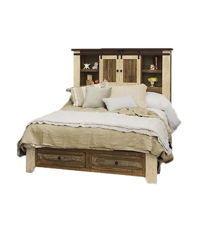 Multi Color Queen Size Anton - Madeline Storage Bed