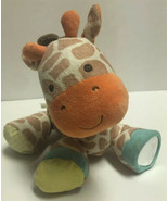 Carters Orange Tan & White Giraffe Plush Baby Activity Toy Stuffed Anima... - $14.13