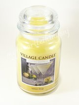 Village Candle Lemon Drop Large 2 Wick 26 oz Limited Edition Jar Candle - $30.00