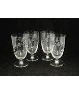 Princess House Crystal Heritage Iced Tea Glasses ~ Set of 4 - $29.00