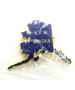 VTG Collectible Lapel Pin - VFW Veterans of Foreign Wars Alaska Map Brooch Pin - $10.30