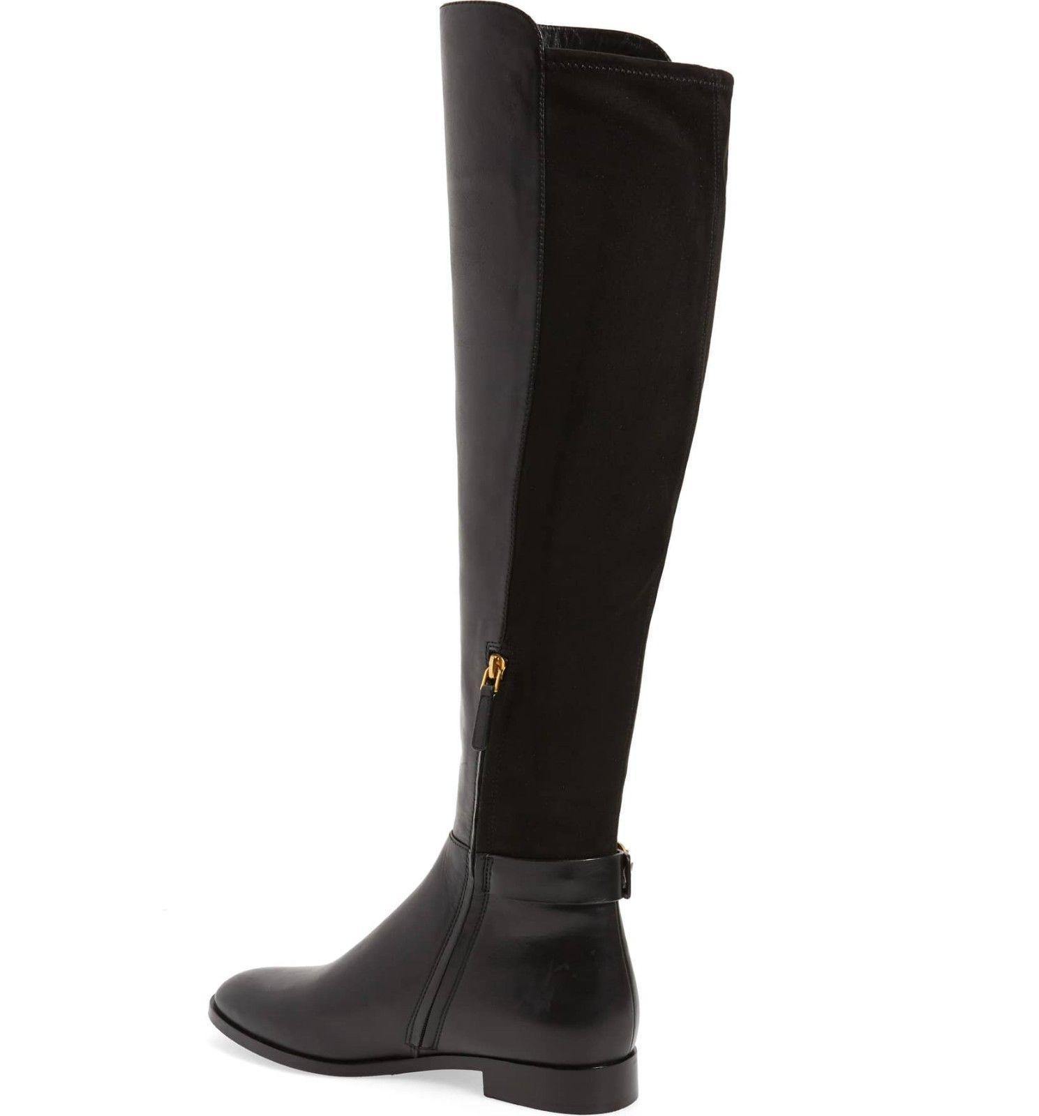 382eb8a62a51 Tory Burch MARSDEN Stretch Riding Boots Flat Equestrian Booties 6 Over Knee