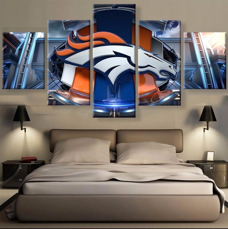 5 Panel Denver Broncos Sports Team Printed Canvas
