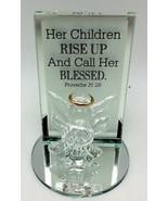 Angel Glass Figurine 4 inch Saying Proverbs 31:28 New - $8.99