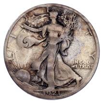 1921-D 50C Walking Liberty Half Dollar Very Good Condition, Key Date! - $389.80