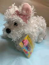 "GANZ Webkinz White Terrier 11"" Plush Item HM106 Pre-owned Kids Doll Toy 2009 - $23.38"