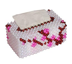 PANDA SUPERSTORE Beading DIY Handmade Tissue Holder for Home/Office, Calyx Canth