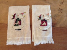 """SET OF 2 ROYAL TERRY CHRISTMAS THEMED SMALL TERRY TOWELS 11"""" X 16""""      ... - $6.89"""