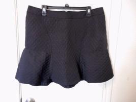 Women's Worthington Black Circle Jacquar Flounce Skirt Size 16   New  - $24.74