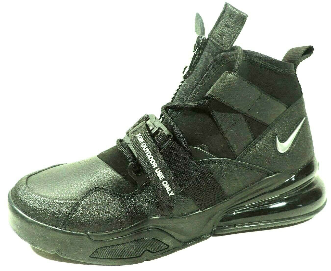Nike Air Force Max 270 Utility Mens Shoes Athletic AQ0572 002/ 400 Black Lth