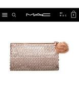 MAC sequins rose gold makeup bag NEW - £10.89 GBP