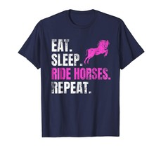 Brother Shirts - Eat Sleep Ride Horses Repeat T-Shirt Horseback Riding L... - $19.95+