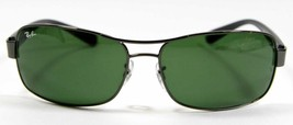 Ray Ban 3379 004 Black Sunlgasses Green Lens 64mm New and Authentic - $94.99