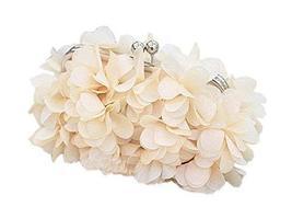 Handmade Petal Light Beige Bag Banquet Handbag and Sweet Style Bags