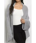 Gray Cardigan w Pockets Removable Sash Sz M/L Soft - $48.00