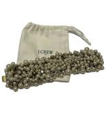 VTG J. Crew pearl and crystal cluster Wide statement bracelet Bridal Wedding Bag - $35.53